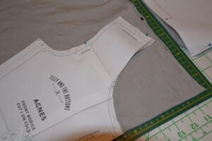 Cutting out agnes top