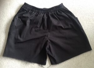 Simplicity 1887 shorts rear view
