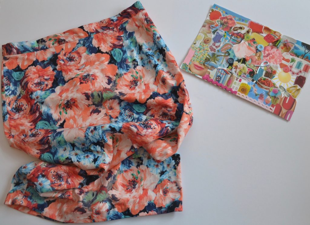 Moodpboard and Simplicity 2154 skirt