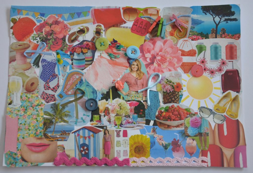 Moodboard for summer skirt project