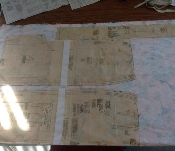 layout of pattern pieces
