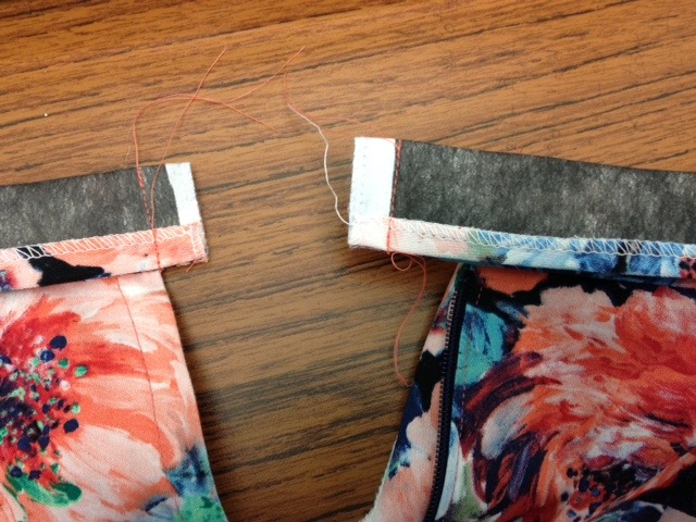 edges of waistband
