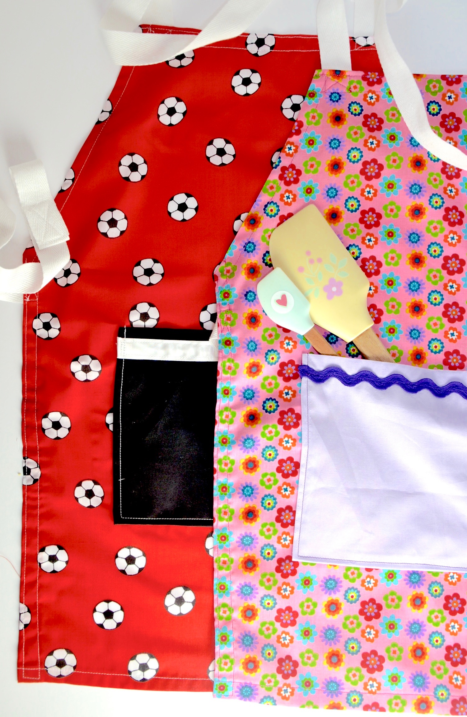 Parent and child sewing morning - sew a kid's apron