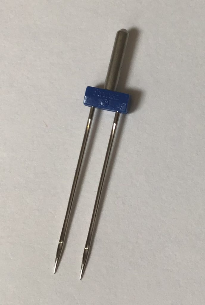 Twin needle for top stitching
